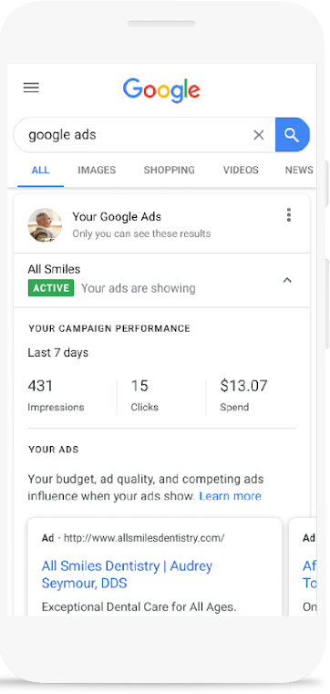 Google Ads Stats In Search Results