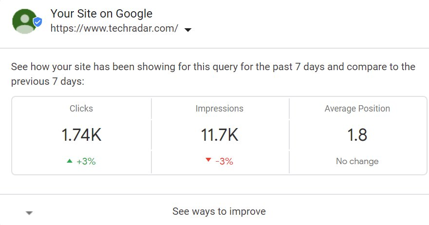 Google Displays Search Console Stats In Search Results